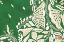 Load image into Gallery viewer, fabric detail of yarn in tussar silk saree