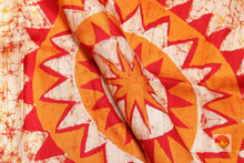 Load image into Gallery viewer, fabric detail of silk yarn in batik silk saree