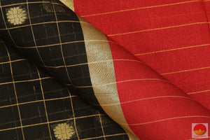 fabric detail of banarasi silk cotton saree