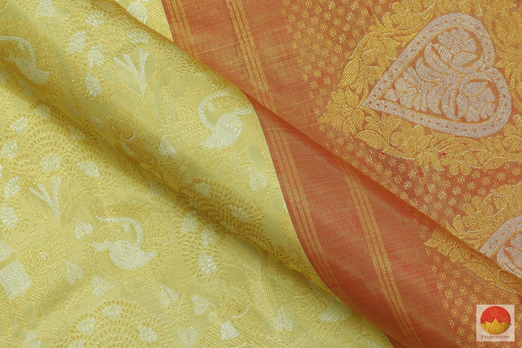 Tissue Kanchipuram Silk Saree - Handwoven Bridal Silk Saree - Beige & Gold - Pure Zari - PV G 2022 Archives