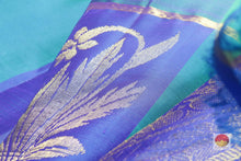 zari detail and fabric texture of kanjivaram pure silk saree