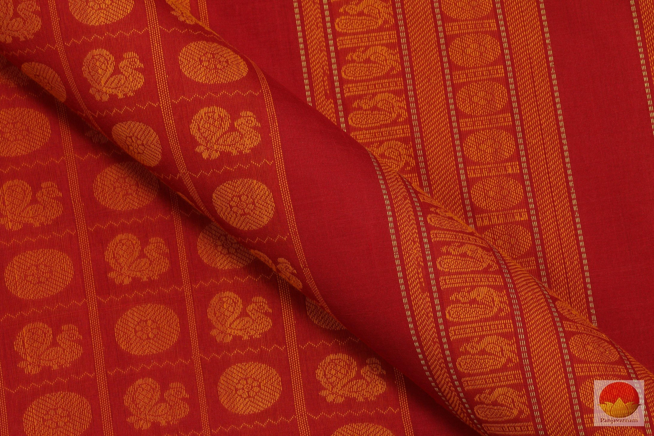 fabric texture of kanchi silk cotton saree