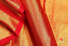 fabric detail of tissue in  kanjivaram silk saree