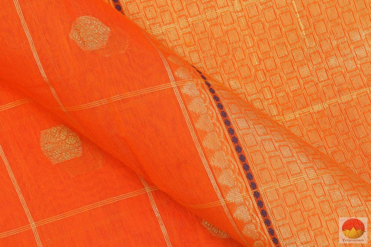 fabric detail of banarasi silk cotton sari
