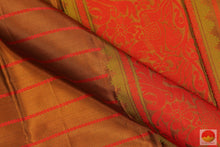 fabric detail of silk yarn in  kanjivaram silk saree