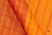 Load image into Gallery viewer, fabric details of kanchipuram silk saree