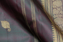 fabric texture of pure silk kanjivaram saree