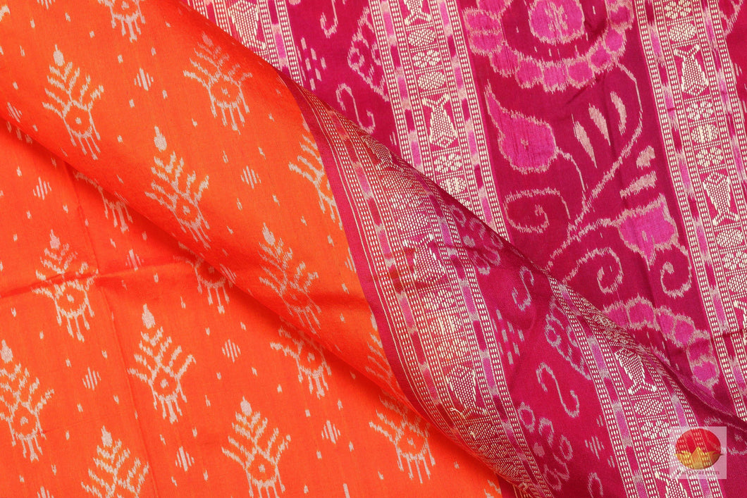 Handwoven Pure Silk Saree - Sambalpuri Silk - SC 20