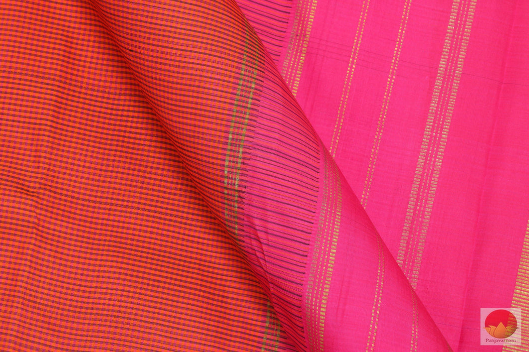 Kanchipuram Silk Saree - Handwoven Pure Silk - PV SVS 2037