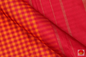 Traditional Design - Handwoven Pure Silk Kanjivaram Saree - Pure Zari - PV 12279