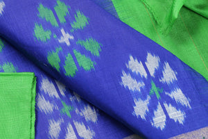 fabric view of pochampally silk saree