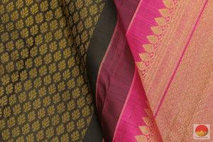 Kanchipuram Pure Silk Saree - Handwoven - Pure Zari - Jacquard - PV RA3 Archives