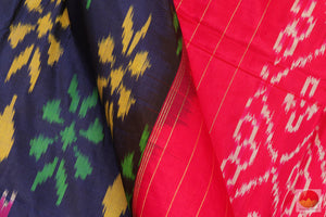 fabric detail of yarn in pochampally silk saree