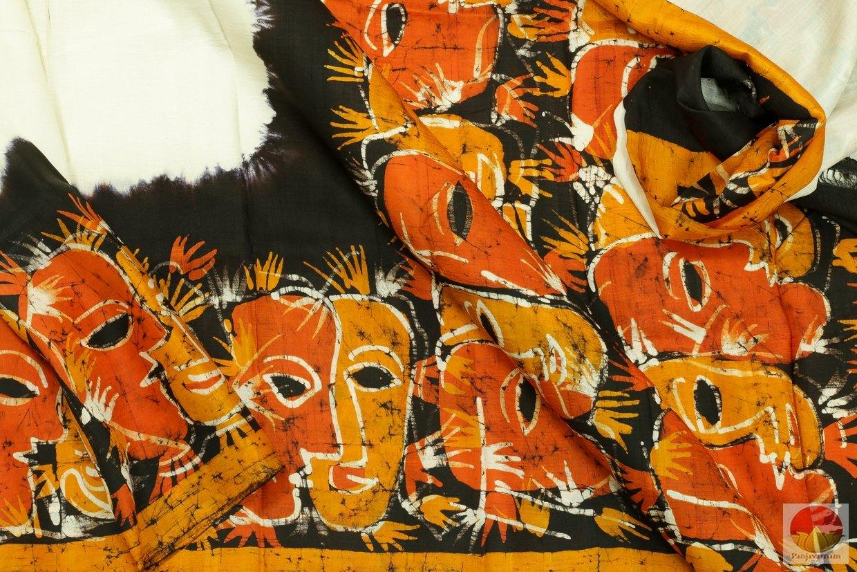 fabric detail of batik silk saree
