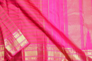 Traditional design kanjivaram handwoven silk saree