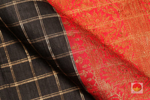 fabric detail of yarn in banarasi  saree