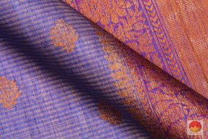 fabric detail of silk yarn in banarasi matka silk saree