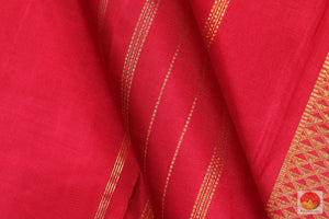 Handwoven Pure Silk Kanjivaram Saree - Pure Zari - PV A 1038 Archives