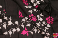 Load image into Gallery viewer, fabric detail of batik silk saree
