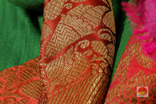 fabric texture of banarasi matka silk saree