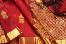 Load image into Gallery viewer,  body and border detail of kanjivaram silk saree