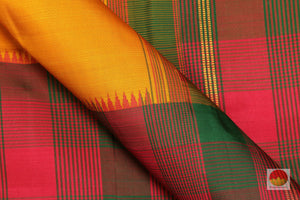 Half and Half - Handwoven Pure Silk Kanjivaram Saree - Pure Zari - PV G 1755 Archives