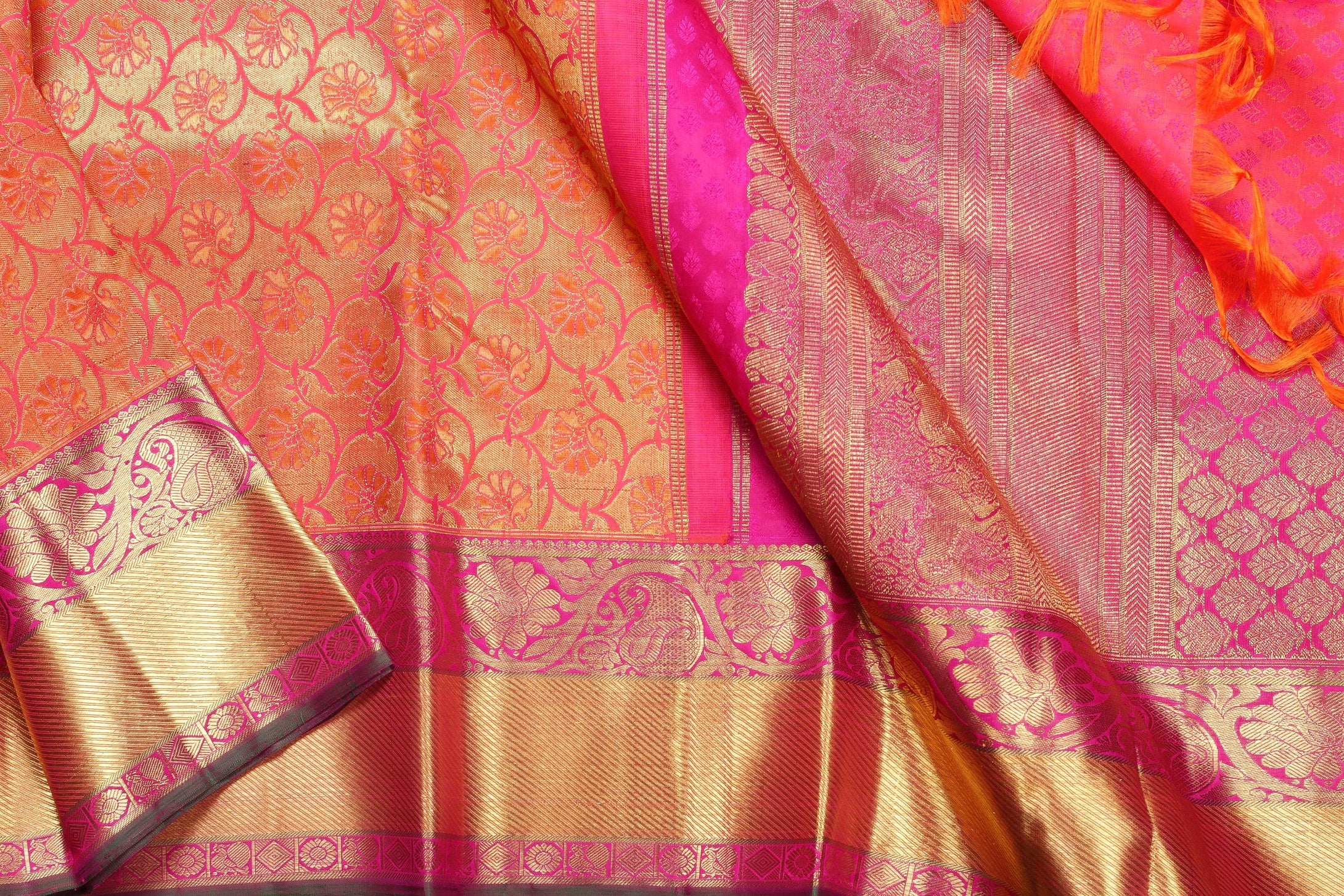 Traditional Design Handwoven Pure Silk Kanjivaram Saree - Bridal Saree - PBR 005 - Archives