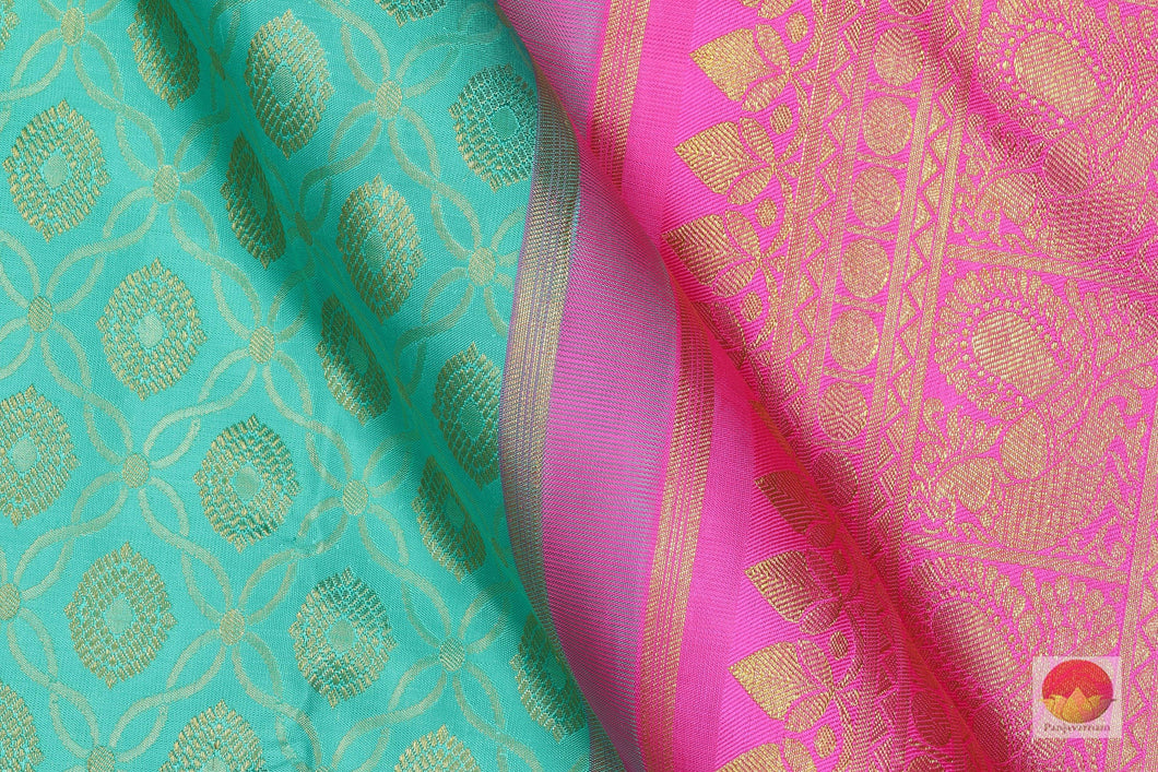Traditional Design - Handwoven Pure Silk Kanjivaram Saree - Pure Zari - PV G 1819 - Archives