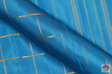 Cobalt Blue - Traditional Design Handwoven Pure Silk Kanjivaram Saree - Pure Zari - PV SVS 12471 Archives