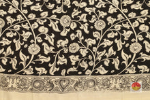 blouse of kalamkari silk saree