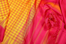 Temple Border Handwoven Kanjivaram Pure Silk Saree - Non Zari - PVA 0418 1255