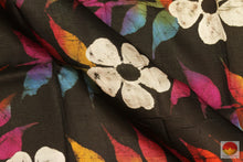 Load image into Gallery viewer, fabric detail of yarn in batik silk saree