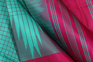 Temple border handwoven kanjivaram silk saree