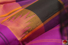Load image into Gallery viewer, Kanchipuram Silk Saree - Handwoven Pure Silk - No Zari - PV NZ 117 Archives