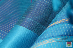 Kanchipuram Silk Saree - Vaira Oosi - Handwoven Pure Silk - Pure Zari - G 1921 Archives
