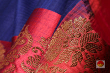 fabric texture of silk yarn in banarasi pure silk saree