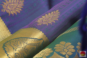 fabric detail of kanchipuram silk saree