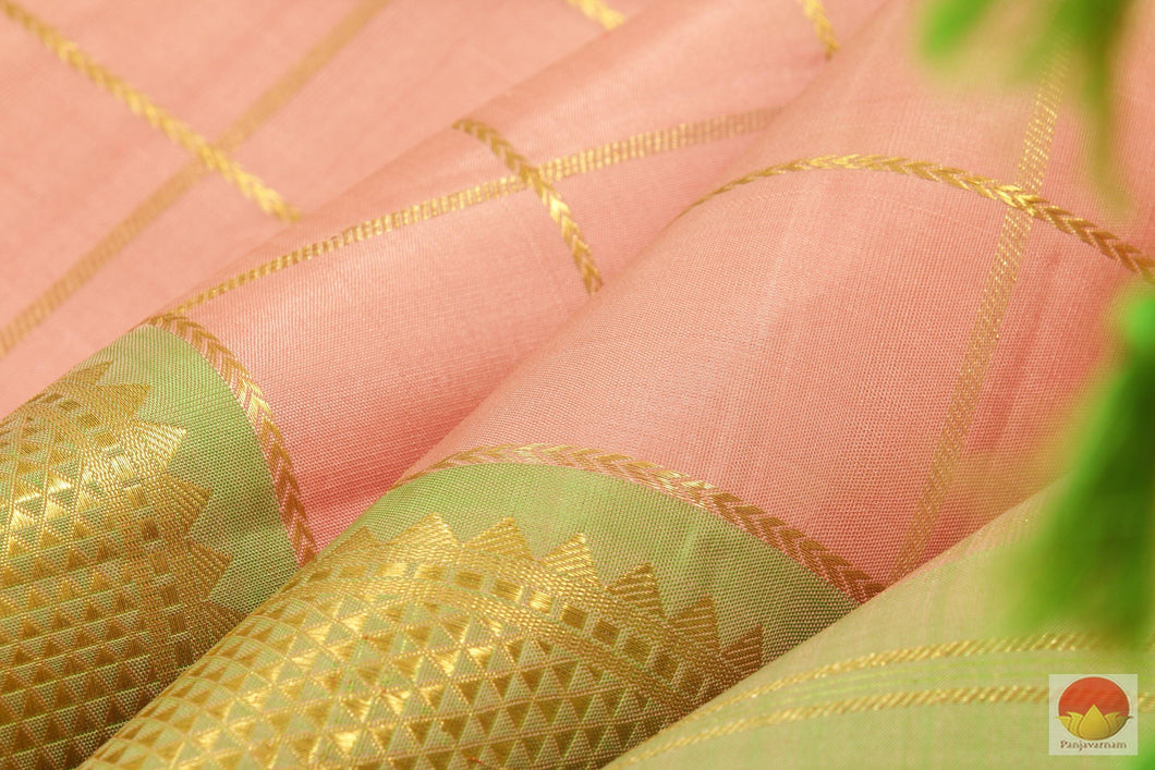 Kanchipuram Silk Saree - Handwoven Pure Silk - Pure Zari - PV SVS A16 Archives