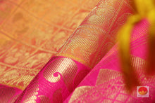 fabric texture of kanjivaram pure silk saree