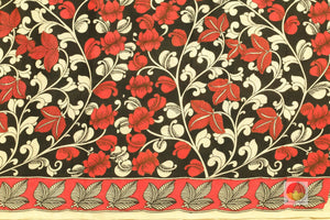 blouse of handpainted kalamkari silk saree