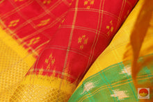 fabric detail of pochampally ikkat silk saree