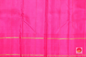 pink silk blouse of kanjivaram pure silk saree
