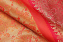 Traditional design kanjivaram pure silk sari with  gold zari