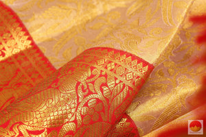 fabric texture of silk yarn in kanchipuram pure silk saree