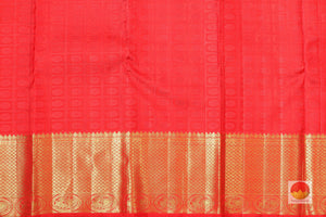 red silk blouse of kanjivaram silk saree