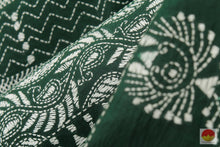 fabric texture of tussar silk saree