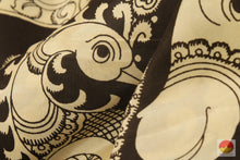 Handpainted Monochrome Kalamkari Silk Saree - Organic Dyes -  PKM 166 Archives