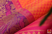fabric texture of silk yarn in kanjivaram pure silk saree