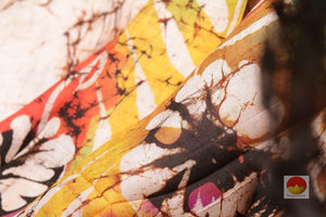 Handpainted Batik Silk Saree - PB 94 Archives