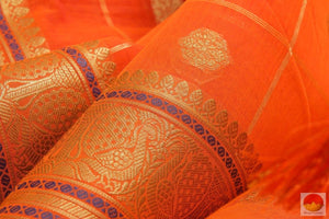 fabric texture of banarasi silk cotton saree